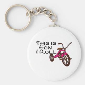 Éste es cómo ruedo (el triciclo) llaveros
