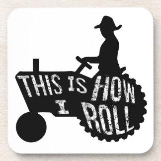 Éste es cómo ruedo estilo del granjero posavaso