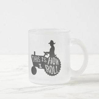 Éste es cómo ruedo estilo del granjero taza de café