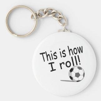 Éste es cómo ruedo fútbol llavero redondo tipo pin