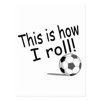 Éste es cómo ruedo fútbol postales