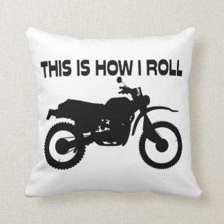 Éste es cómo ruedo la bici de la suciedad cojín