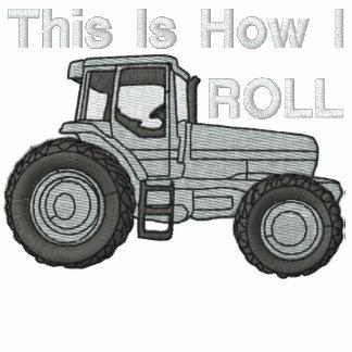 Éste es cómo ruedo la camisa bordada granjero sudadera bordada con capucha