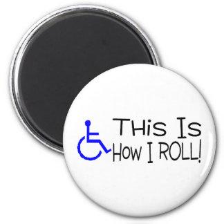 Éste es cómo ruedo la silla de ruedas imán redondo 5 cm