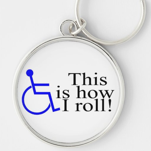 Éste es cómo ruedo la silla de ruedas llavero