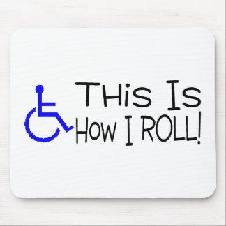 Éste es cómo ruedo la silla de ruedas alfombrilla de ratón