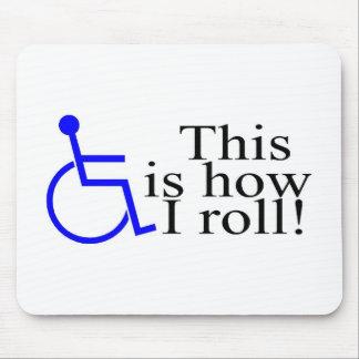 Éste es cómo ruedo la silla de ruedas tapetes de ratón