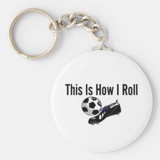 Éste es cómo ruedo los zapatos del balón de fútbol llaveros personalizados