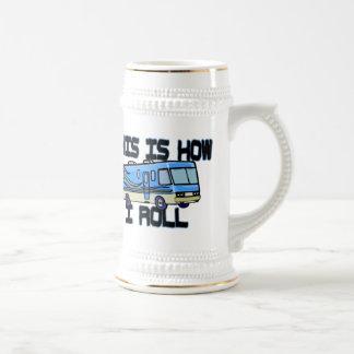 Éste es cómo ruedo rv tazas de café