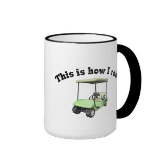Éste es cómo ruedo taza de café
