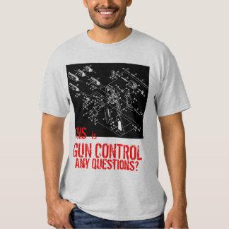 ¿ÉSTE es CONTROL DE ARMAS cualquier pregunta? Remeras