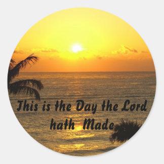 Éste es el día que el hath del señor hizo pegatina redonda