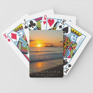 Éste es el día que el señor ha hecho barajas de cartas