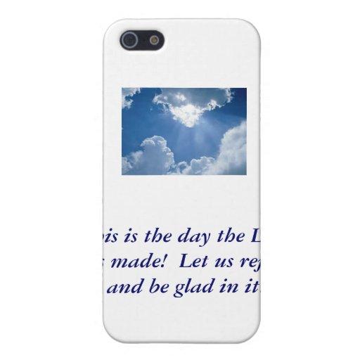 ¡Éste es el día que el señor ha hecho! iPhone 5 Fundas