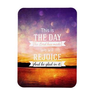 Éste es el día que el señor ha hecho… imán rectangular