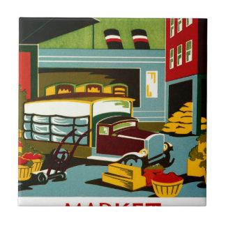 Éste es el mercado… azulejo cuadrado pequeño