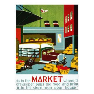 """Éste es el mercado… invitación 5.5"""" x 7.5"""""""