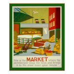 Éste es el poster de la publicidad del vintage del