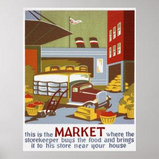 Éste es el poster del mercado