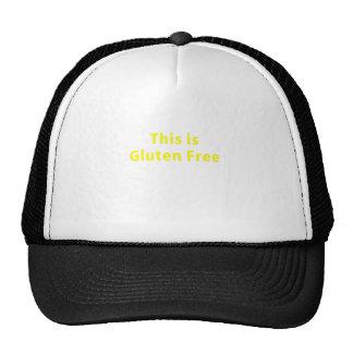 Éste es gluten libre gorras de camionero