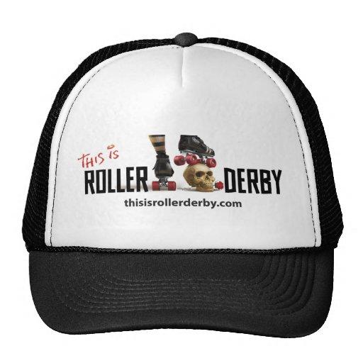 Éste es gorra de Derby del rodillo