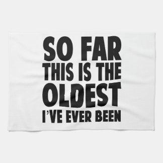 Éste es hasta ahora el más viejo que he estado toallas