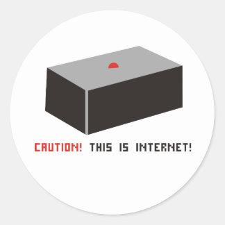 ¡Éste es Internet! Pegatina Redonda