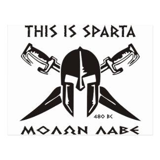 Éste es lave de Sparta - de Molon (el negro) Tarjetas Postales