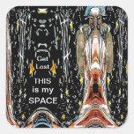 Éste es mi espacio colcomanias cuadradas personalizadas