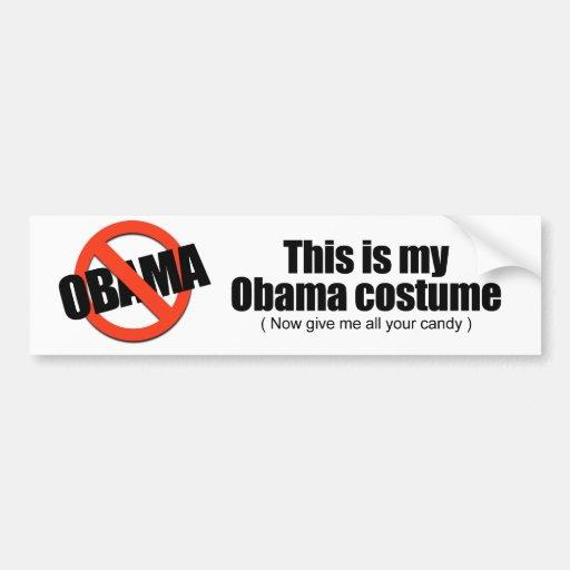 Éste es mi Obama que el traje ahora me da todo su  Etiqueta De Parachoque