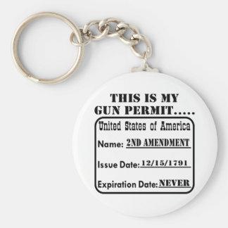 Éste es mi permiso del arma llavero redondo tipo pin