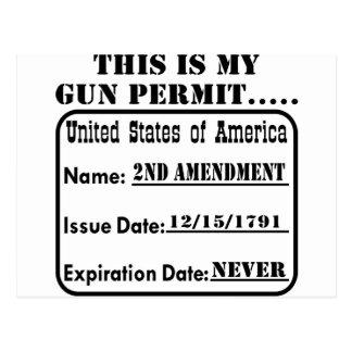 Éste es mi permiso del arma tarjetas postales