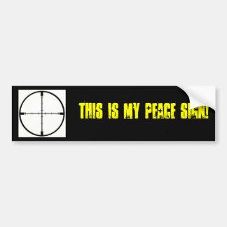 ¡Éste es mi signo de la paz! Etiqueta De Parachoque