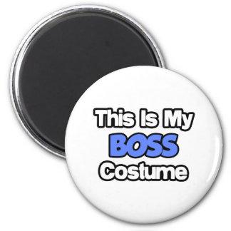 Éste es mi traje de Boss Imán De Frigorífico