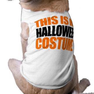 ÉSTE ES MI TRAJE de HALLOWEEN el naranja Ropa Para Mascota