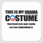 Éste es mi traje de Obama Pegatina Cuadrada