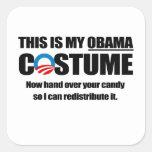 Éste es mi traje de Obama Pegatinas Cuadradases
