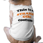 Éste es mi traje recto del chica camisetas de perrito