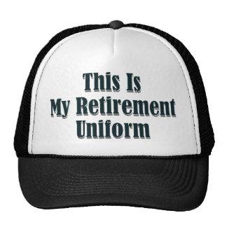Éste es mi uniforme del retiro gorros bordados