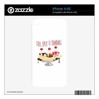 Éste es plátanos calcomanía para iPhone 4