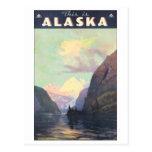 Éste es poster del viaje del vintage de Alaska Postal