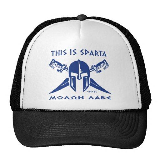 Éste es Sparta - Molon Lave - azul Gorro De Camionero
