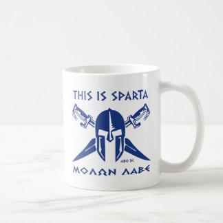 Éste es Sparta - Molon Lave - azul Tazas