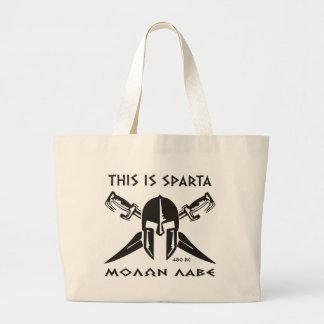Éste es Sparta - Molon Lave - negro Bolsas