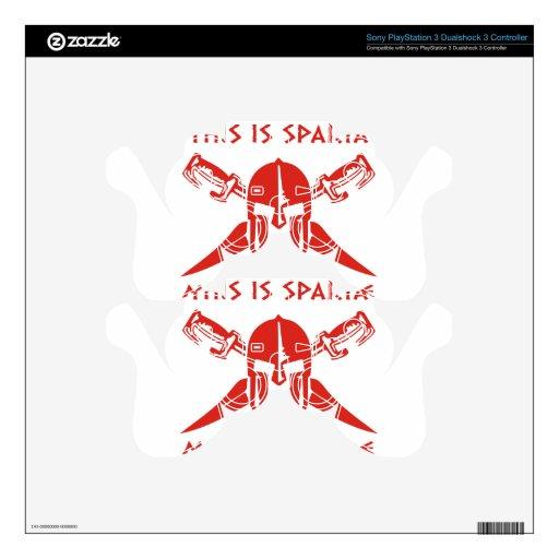 Éste es Sparta - Molon Lave - rojo Calcomanía Para Mando PS3