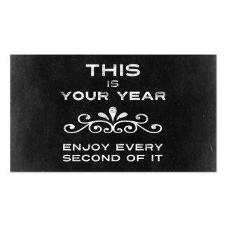 Éste es su año tarjetas de visita