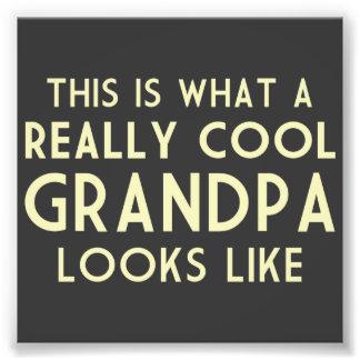 Éste es un qué abuelo realmente fresco parece fotografía