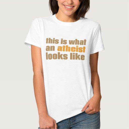 Éste es un qué ateo parece el camisetas playera