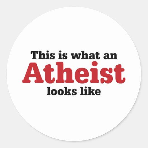 Éste es un qué ateo parece etiqueta redonda