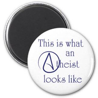 ¡Éste es un qué ateo parece! Imán Redondo 5 Cm
